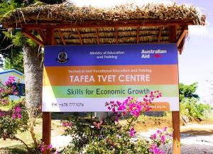 Outside the Tafea Skills Centre
