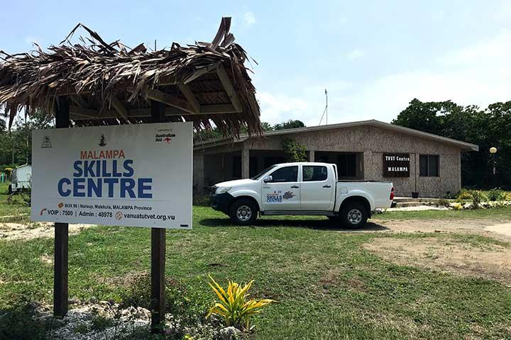 Outside the Malampa Skills Centre
