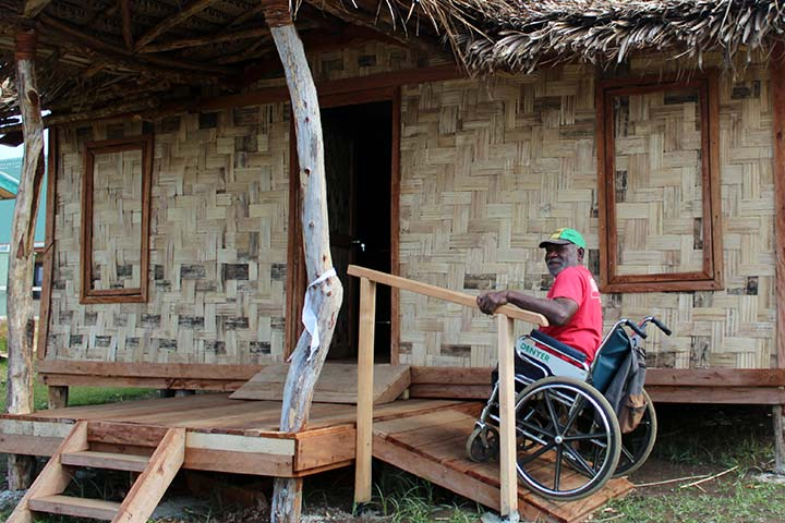 A model bungalow on Tanna Island, built ensuring wheelchair accessibility