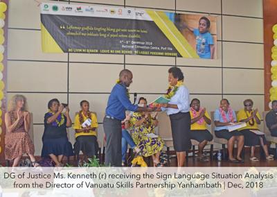 Advancing Sign language in Vanuatu