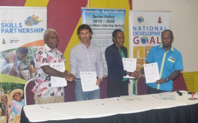 Vanuatu Skills Partnership signs public private partnership agreement with Cocoa Premium Limited, Agriculture Department and Malampa Province