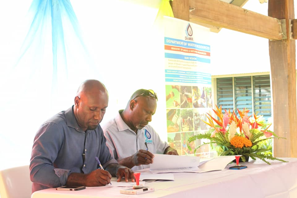 Department of Water signs MOU with Vanuatu Skills Partnership