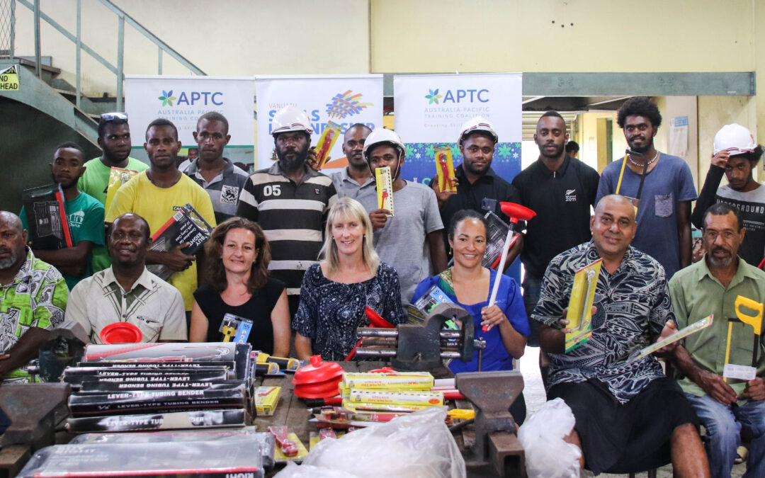 Opportunities to access plumbing training extend to central Vanuatu