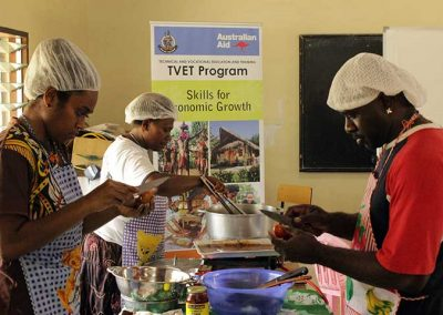 Students in a cooking workshop at VIT Hospitality and Tourism School