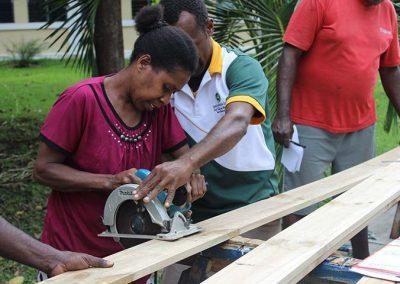 Workshop participants at Agriculture College building Food Solar Drier for Food preservation