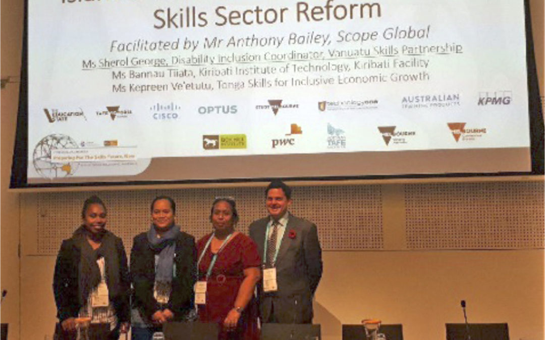 Pacific skills development practitioners share  key takeaways from the WFCP World Congress 2018