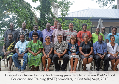 Disability inclusive training for training providers