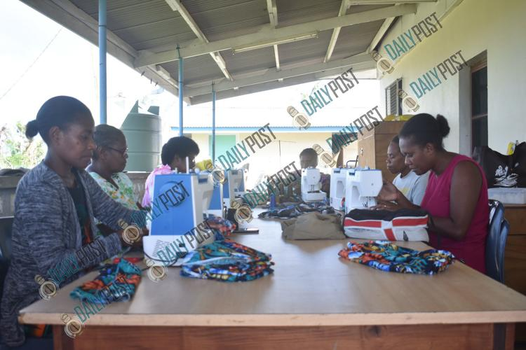Local tailors sewing for cyclone-affected families